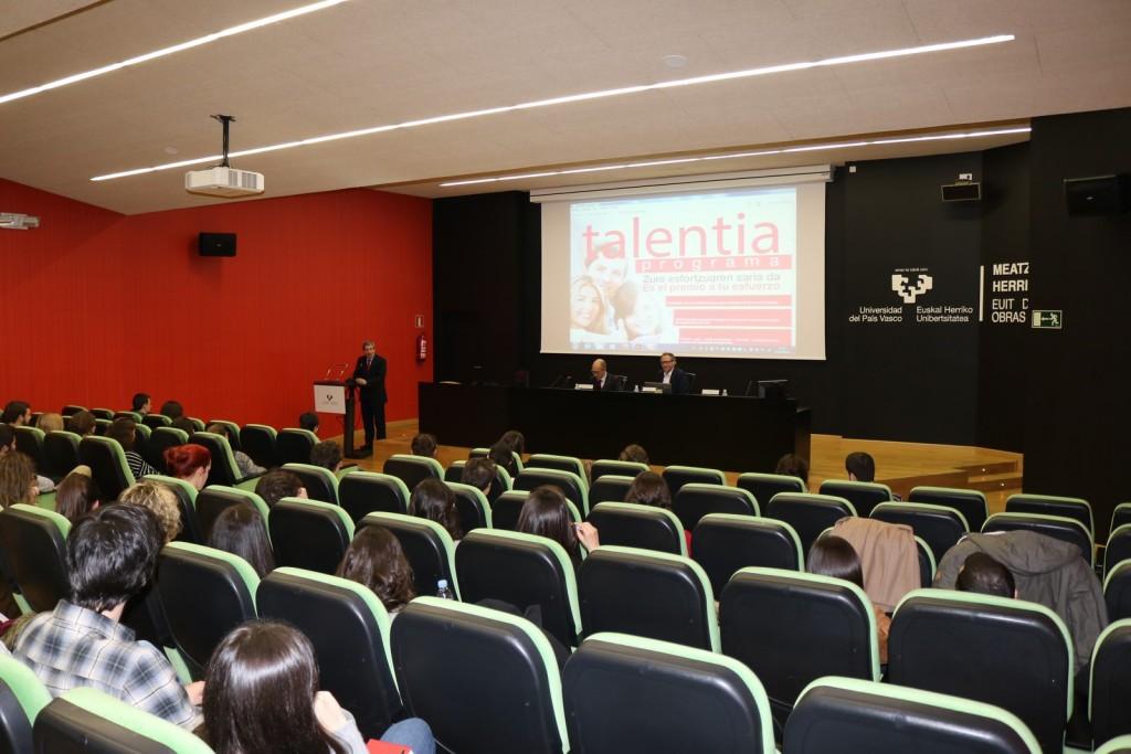 2bb45f285d Presentación oficial del Programa Talentia en la Universidad del País Vasco  – EHU